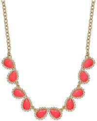 Kate Spade Gold-Tone Balloon Stone Mini Row Necklace - Lyst