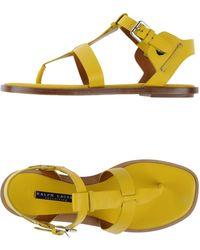 Ralph Lauren Yellow Sandals - Lyst