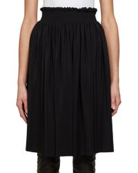 Givenchy Gathered Silk Skirt - Lyst