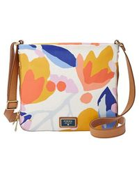 Fossil 'Preston' Floral Print Canvas Crossbody Bag - Lyst