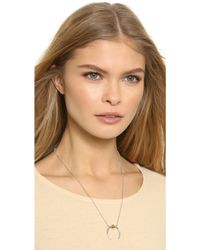 Rachel Zoe - Mia Sphere Crescent Necklace - Gold - Lyst