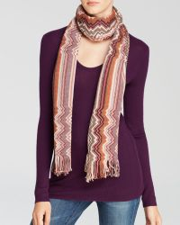 Missoni Stripe To Zig-Zag Scarf - Lyst