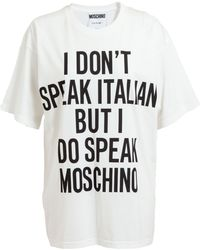 Moschino I Dont Speak Cotton Tshirt - Lyst