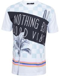 Markus Lupfer Nothing But Good Vibes T-shirt - Lyst