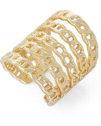 BCBGMAXAZRIA Multi-Chain Ring - Lyst