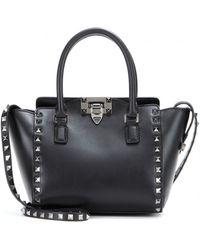 Valentino Rockstud Noir Leather Shoulder Bag - Lyst