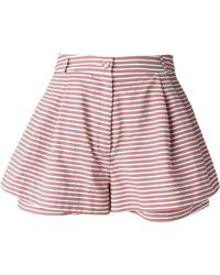 Peter Jensen Striped Shorts - Lyst