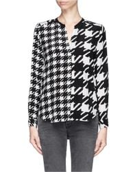 Sandro Check Blouse - Lyst
