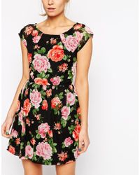 Love Babydoll Dress In Floral Print - Lyst