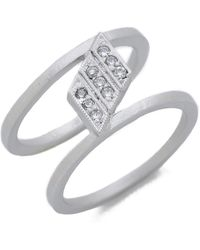 Jamie Wolf - Nycb Symphony In 3 White Diamond Ring - Silver - Lyst