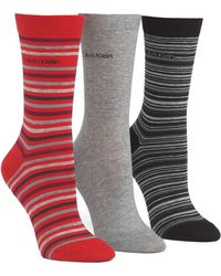Calvin Klein Combed Cotton Crew Socks 3 Pairs - Lyst