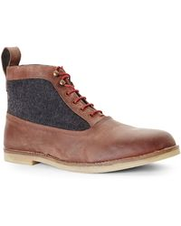 Ben Sherman Cognac Trent Boots - Lyst