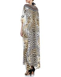 Camilla Scoopneck Caftan Coverup Dress Jaguar - Lyst