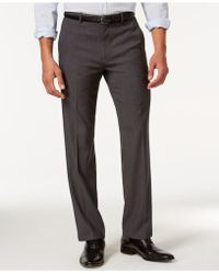 Calvin Klein | Flat Front Dress Pants | Lyst