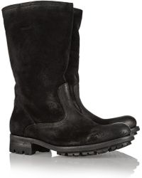 NDC Shearling-Lined Brushed-Suede Boots - Lyst