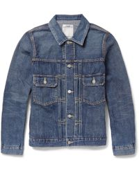 Visvim Washed-Denim Jacket - Lyst