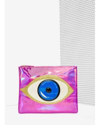 Nila Anthony - No More Tears Holographic Clutch - Lyst
