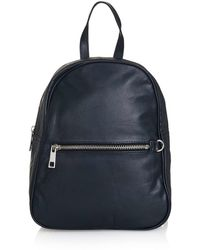 Topshop   Clean Leather Backpack   Lyst