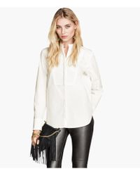 H&M Bib-fronted Blouse - Lyst