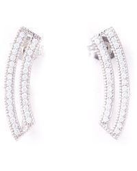 V Jewellery Contour Loop Earrings - Lyst