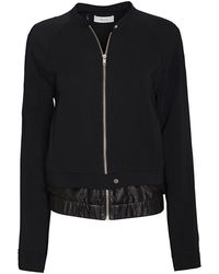 A.L.C. Leather Detail Bomber Jacket - Lyst