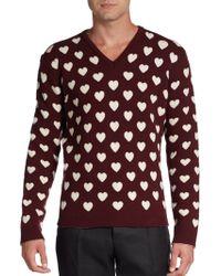 Burberry Prorsum Woolcashmere Heart Sweater - Lyst