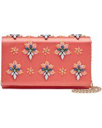 Emilio Pucci Embellished Satin Shoulder Bag - Lyst
