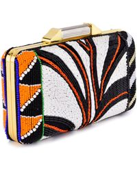 Emilio Pucci Black and White and Orange Minaudiere - Lyst