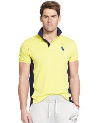 Polo Ralph Lauren Color-Blocked Mesh Performance Polo - Lyst