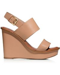 Tory Burch Lexington Wedge Sandal - Lyst
