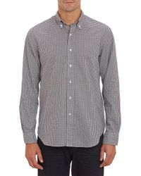 Barneys New York Gingham Oxford Shirt - Lyst