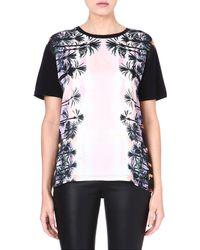 Juicy Couture Graphicprint Boyfriend Tshirt Black - Lyst