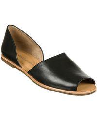 Franco Sarto Venezia Leather Open-Toe Flats - Lyst