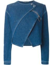 Kenzo Tiered Denim Jacket - Lyst