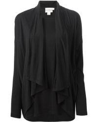 DKNY Ruffled Cardigan black - Lyst