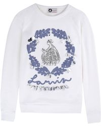 Lanvin Blouse gray - Lyst