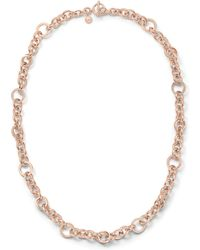 Michael Kors Pave Ring Link Necklace 28 - Lyst