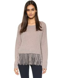 ThePerfext - Greenpoint Fringe Cashmere Sweater - Latte - Lyst