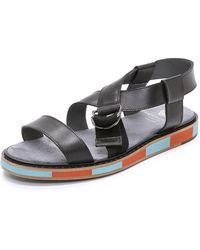 Viktor & Rolf Leather Sandals - Lyst