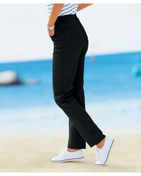 DAMART - Cotton Stretch Trousers - Lyst