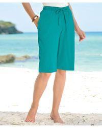 b84ac7e8a62 Hot DAMART - Crinkle Bermuda Shorts - Lyst