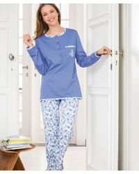 DAMART - Pack Of 2 Long Sleeved Pyjamas - Lyst
