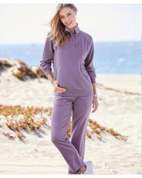 DAMART - Check Trimmed Leisure Suit - Lyst