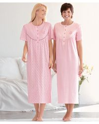 DAMART - Pack Of 2 Cotton Nightdresses - Lyst