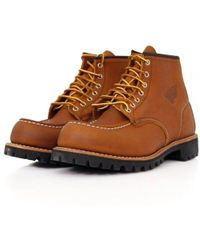 Red Wing - Moc Lug Oro-Iginal Leather Light Brown Boot 8147 - Lyst