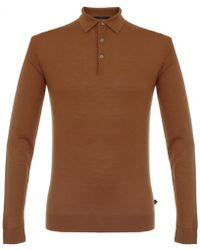 Matíníque - Klint Caramel Knit Polo Shirt 30201249 - Lyst
