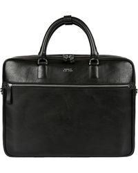 Sandqvist - Dag Black Leather Briefcase Sqa594 - Lyst