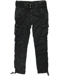 Schott Nyc - Tr Battle 70 Black Cargo Trousers Trbatle70Pkr - Lyst