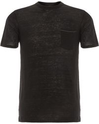 Rag & Bone | Owen Black T-Shirt M272T16Jv | Lyst