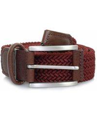 Andersons - Anderson Belts Woven Burgundy Belt B0667 Af2949 D1 - Lyst